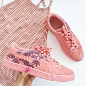 puma floral sneakers size 10